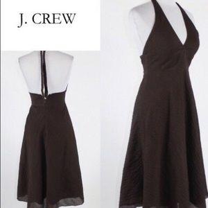 J. Crew A-Line Halter Dress